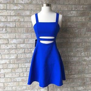NWT Express Cobalt Blue Cutout Dress Size 0